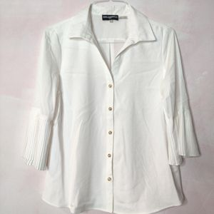 Karl Lagerfield Paris Button Down Pearl Top Size M
